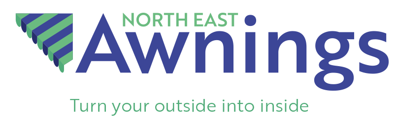 North East Awnings logo Green Blue